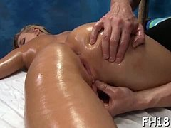 Luscious beautiful ex girlfriend sleeps with and sucks her massagist