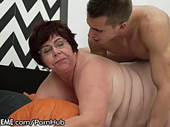 Plumper Granny used by fresh males stick