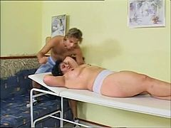 Developed dark-haired fornicating with her immature masseur maturepornvideos xxx